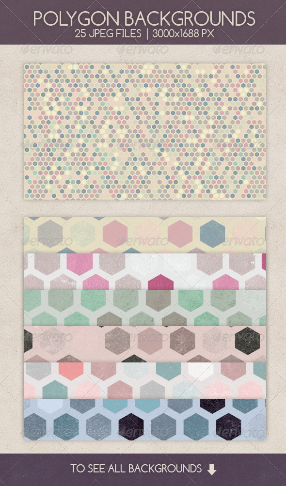 GraphicRiver Polygon Backgrounds 7652425