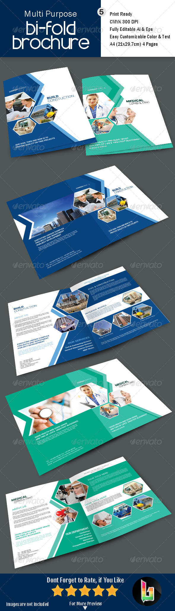 GraphicRiver Multi Purpose Bi-Fold Brochre V5 7652906
