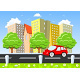Car Moving Through the City - GraphicRiver Item for Sale