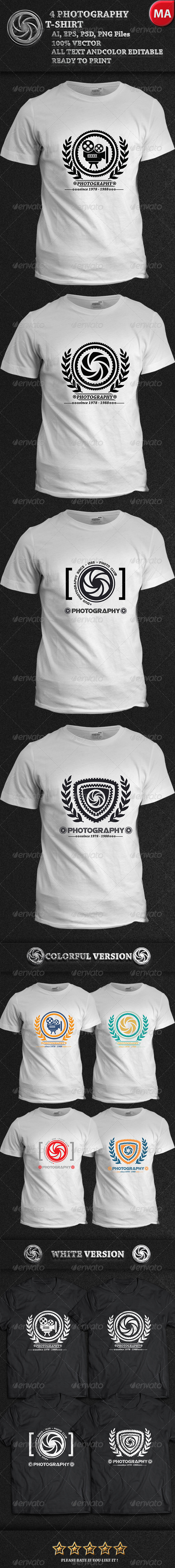 GraphicRiver 4 Photography T-Shirt 7654097