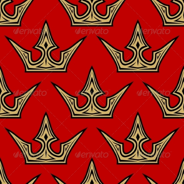 GraphicRiver Golden Crowns Seamless Pattern 7655298