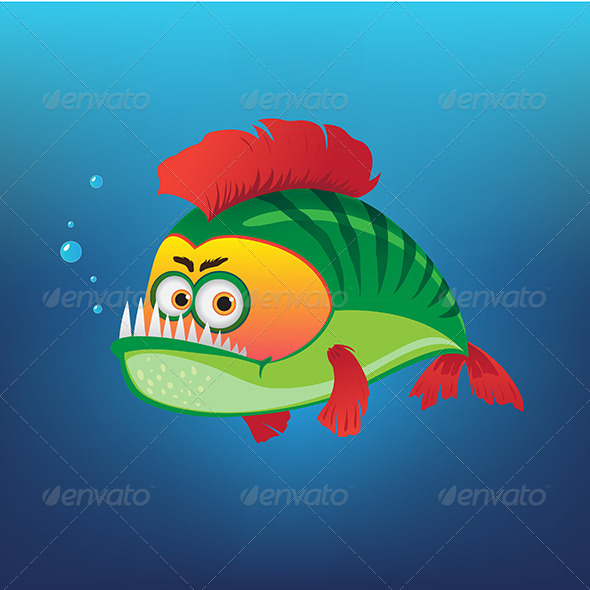 GraphicRiver Green Fish 7656352