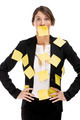 Business woman with yellow paper notes - PhotoDune Item for Sale