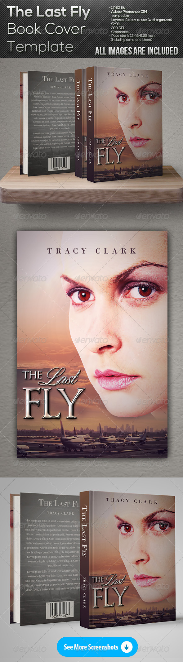 GraphicRiver The Last Fly Book Cover Template 7660425