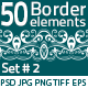 50 Border Elements Pack #2 - GraphicRiver Item for Sale