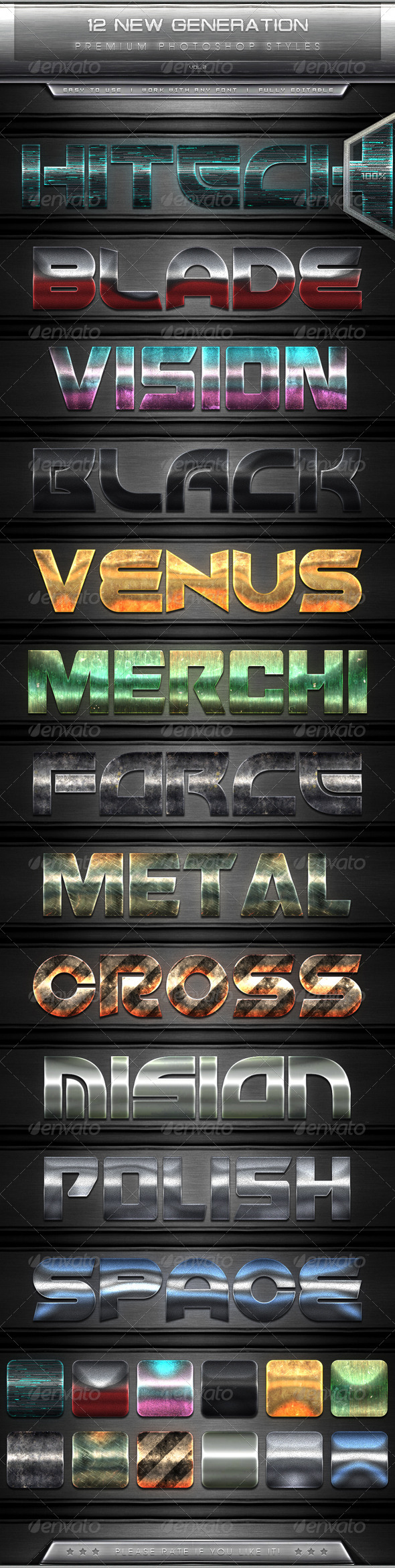 GraphicRiver 12 New Generation Text Effect Styles Vol.2 7663026