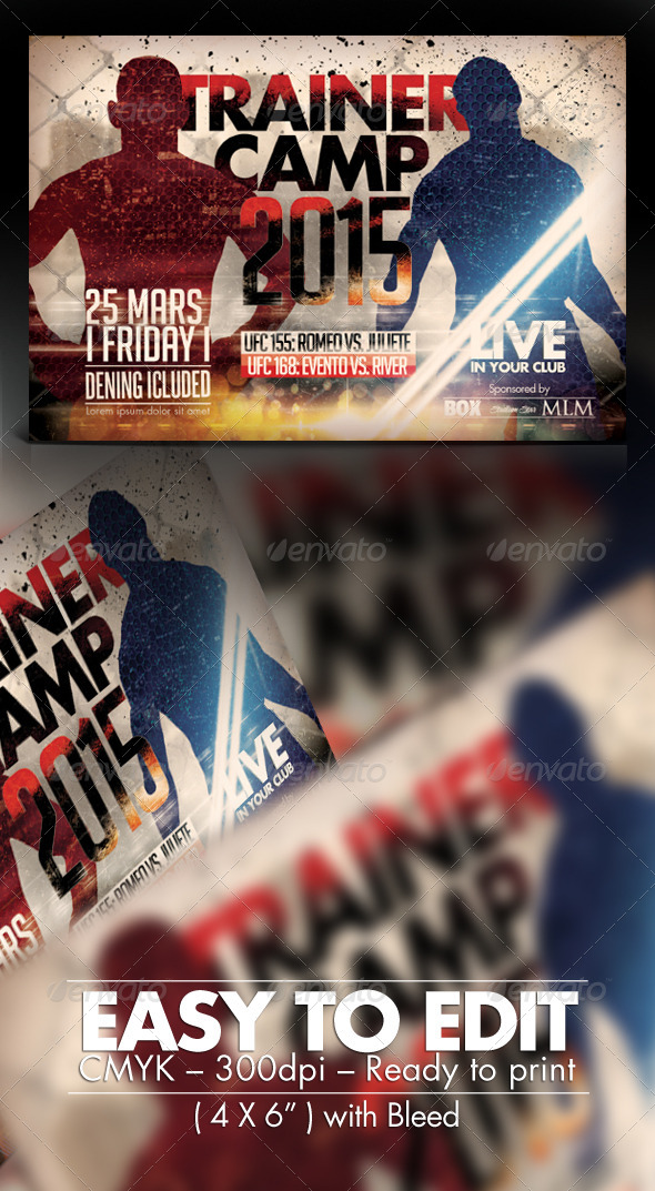 GraphicRiver Trainer Camp Flyer Template 7663029