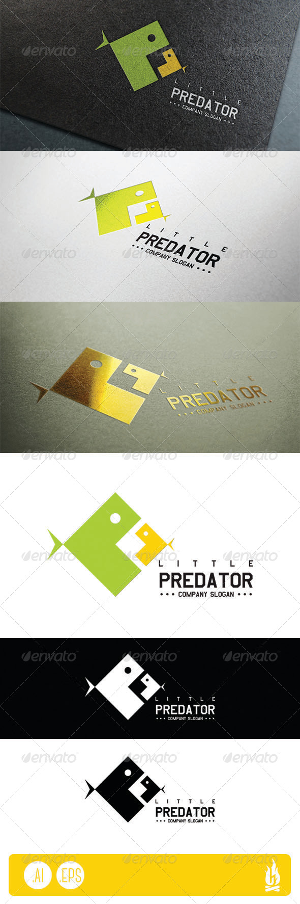 GraphicRiver Little Predator Logo 7663217