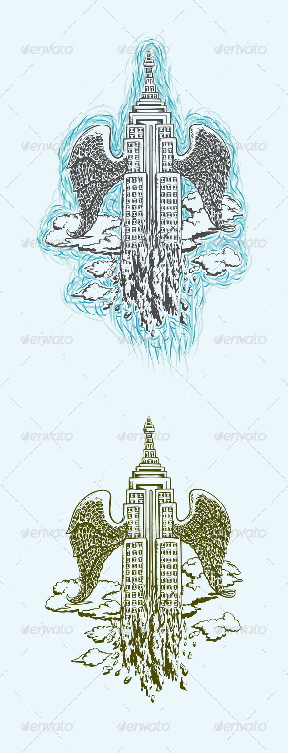 GraphicRiver The Movement of City Illustration 7663353