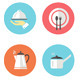 Restaurant Icon Set in Flat Design - GraphicRiver Item for Sale