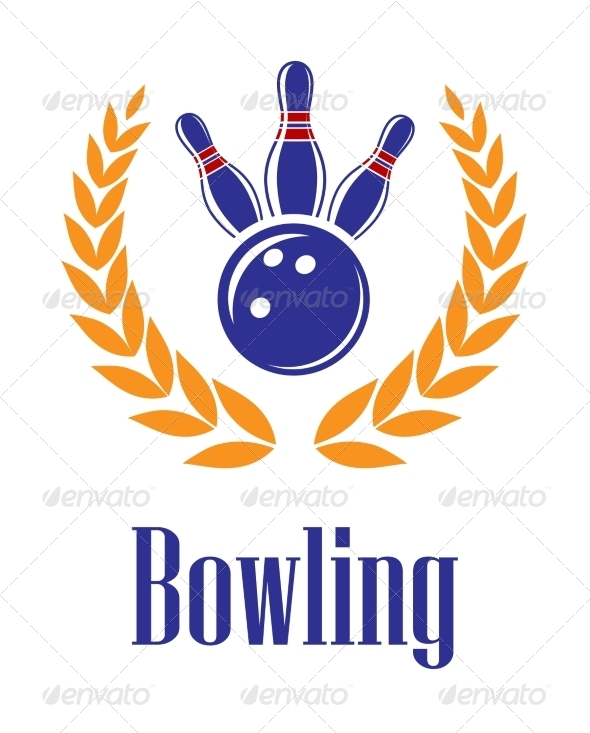 GraphicRiver Bowling Elements in Laurel Wreath 7664590