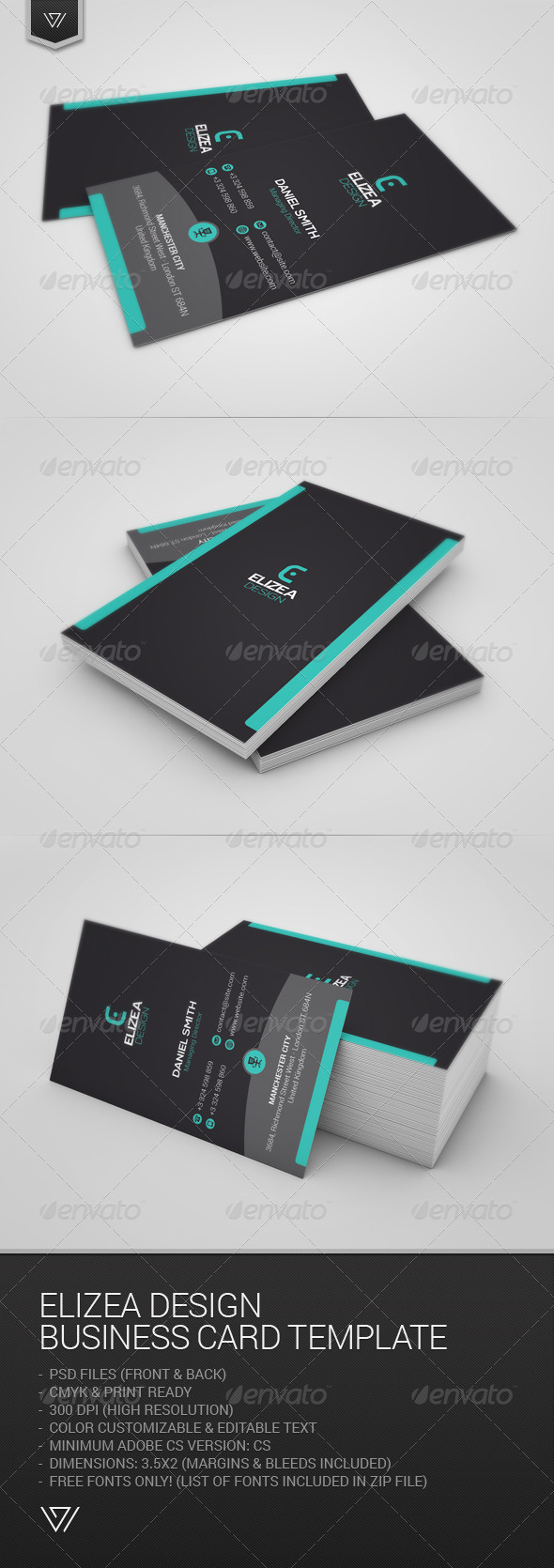 GraphicRiver Elizea Design Business Card 7664716