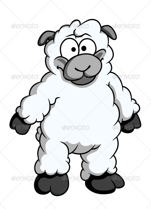 GraphicRiver Woolly Cartoon Sheep 7665019
