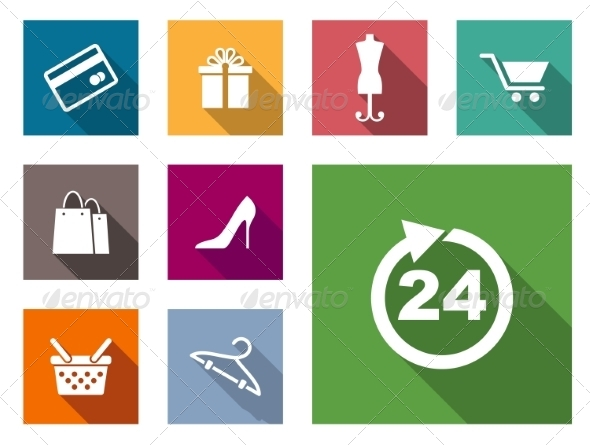 GraphicRiver Flat Shopping Icons 7665446