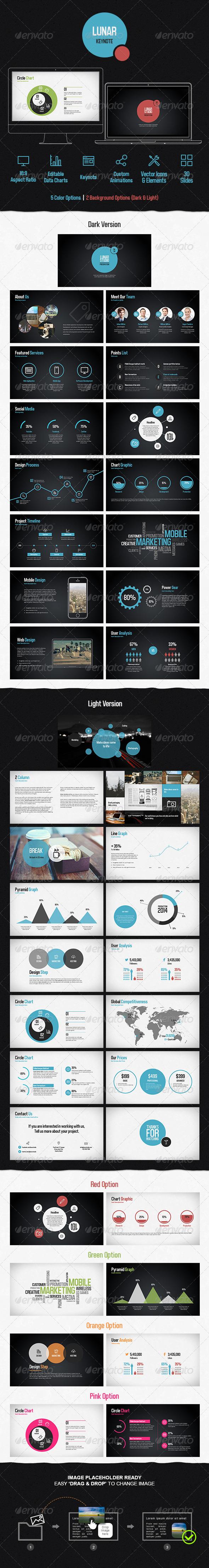 GraphicRiver Lunar Keynote Presentation Template 7666228