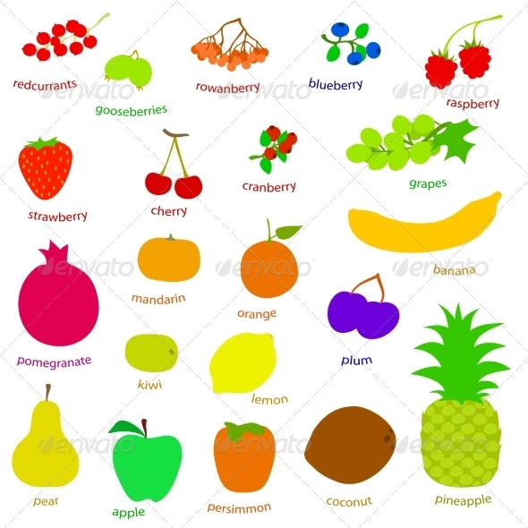 GraphicRiver Fruits and Berries 7667755