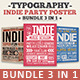 Typography Indie Party Poster Bundle - GraphicRiver Item for Sale