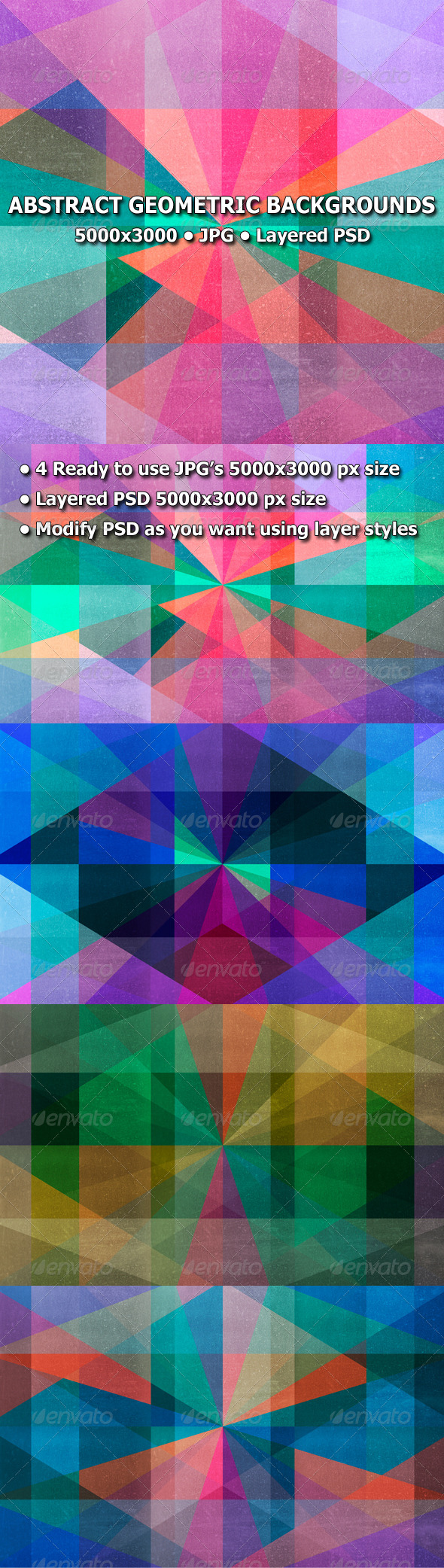 GraphicRiver Abstract Geometric Backgrounds 7668312