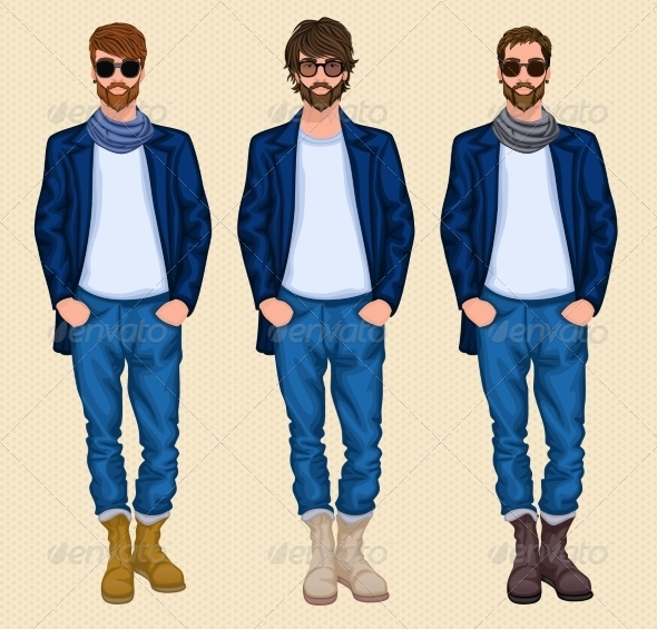 GraphicRiver Hipster Man Set 7668330