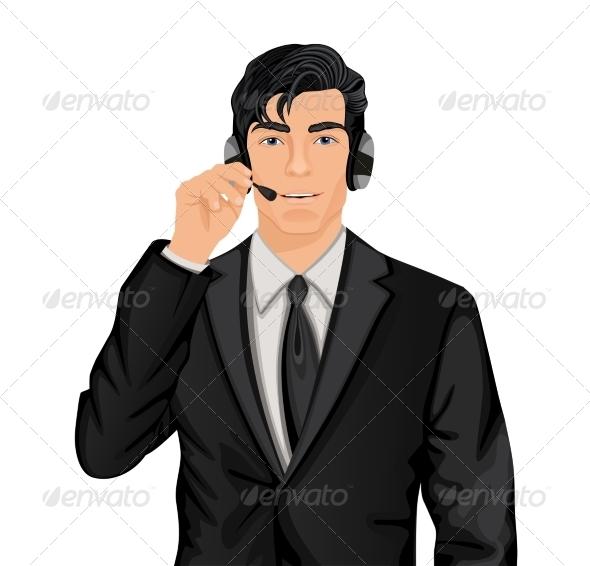 GraphicRiver Customer Service Representative Man 7668334