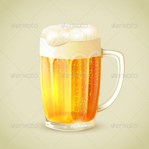 GraphicRiver Mug of Beer Emblem 7668362