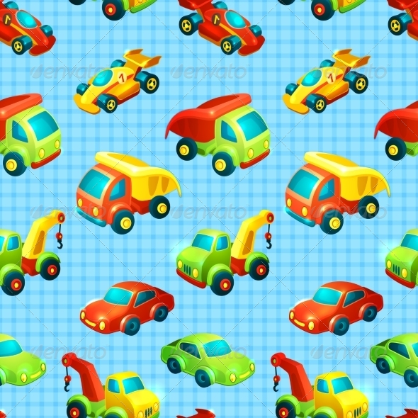 GraphicRiver Transport Toy Seamless Pattern 7668364