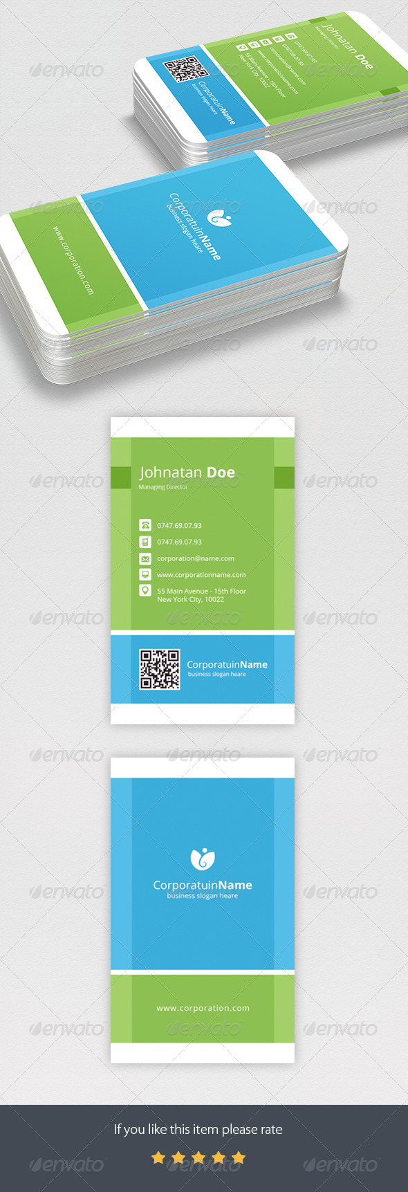 GraphicRiver Corporate Business Card 7668681