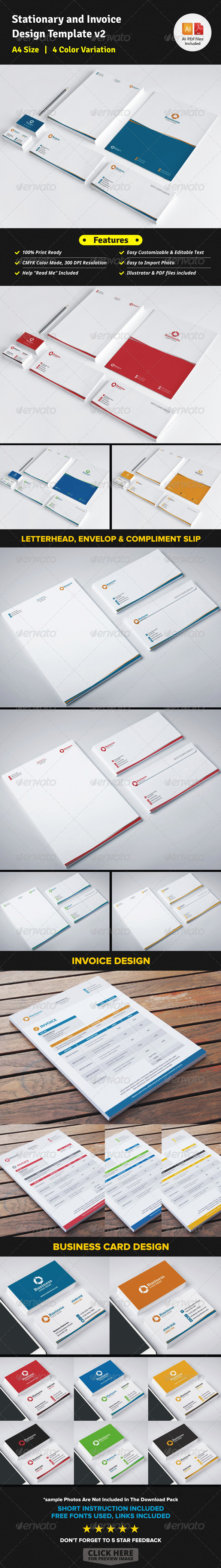 GraphicRiver Stationary & Invoice Design Template v2 7668698
