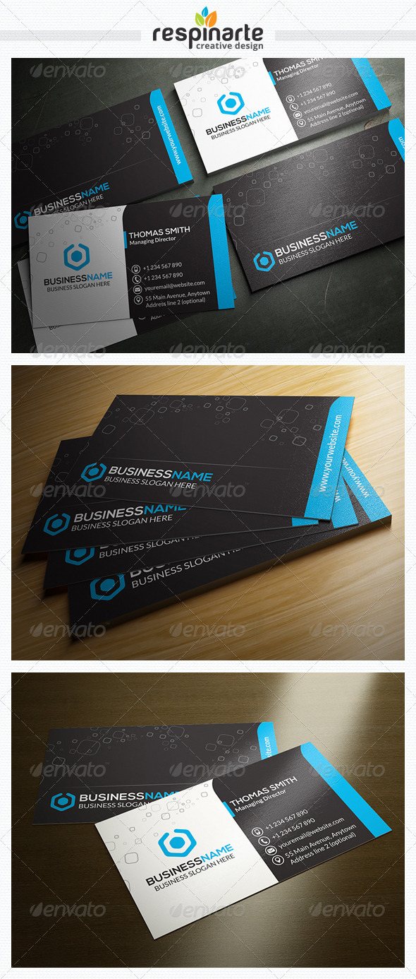 GraphicRiver Corporate Business Card RA23 7668719