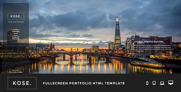 ThemeForest Kose Fullscreen Portfolio HTML Template 7668768
