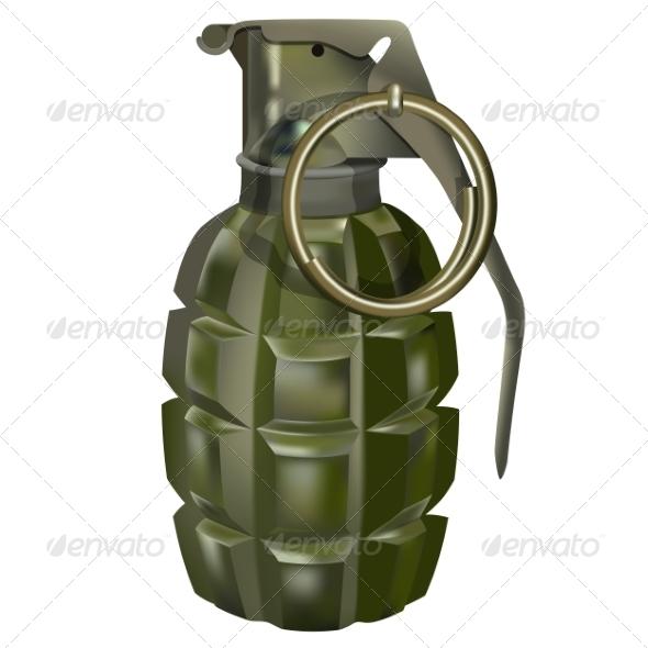 GraphicRiver Hand Grenade 7668812