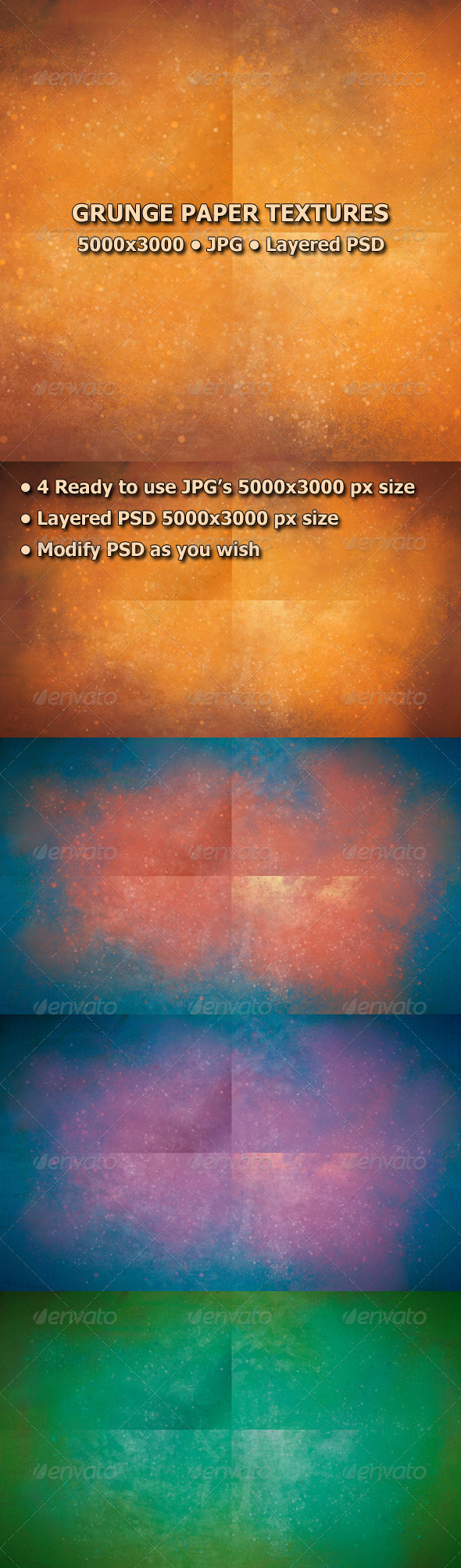 GraphicRiver Grunge Paper Textures 7668863