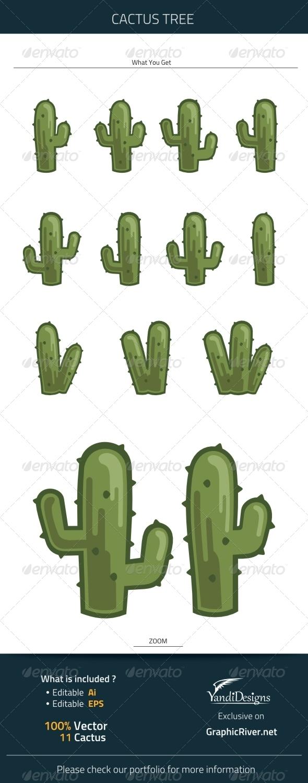 GraphicRiver Cactus Tree 7669134