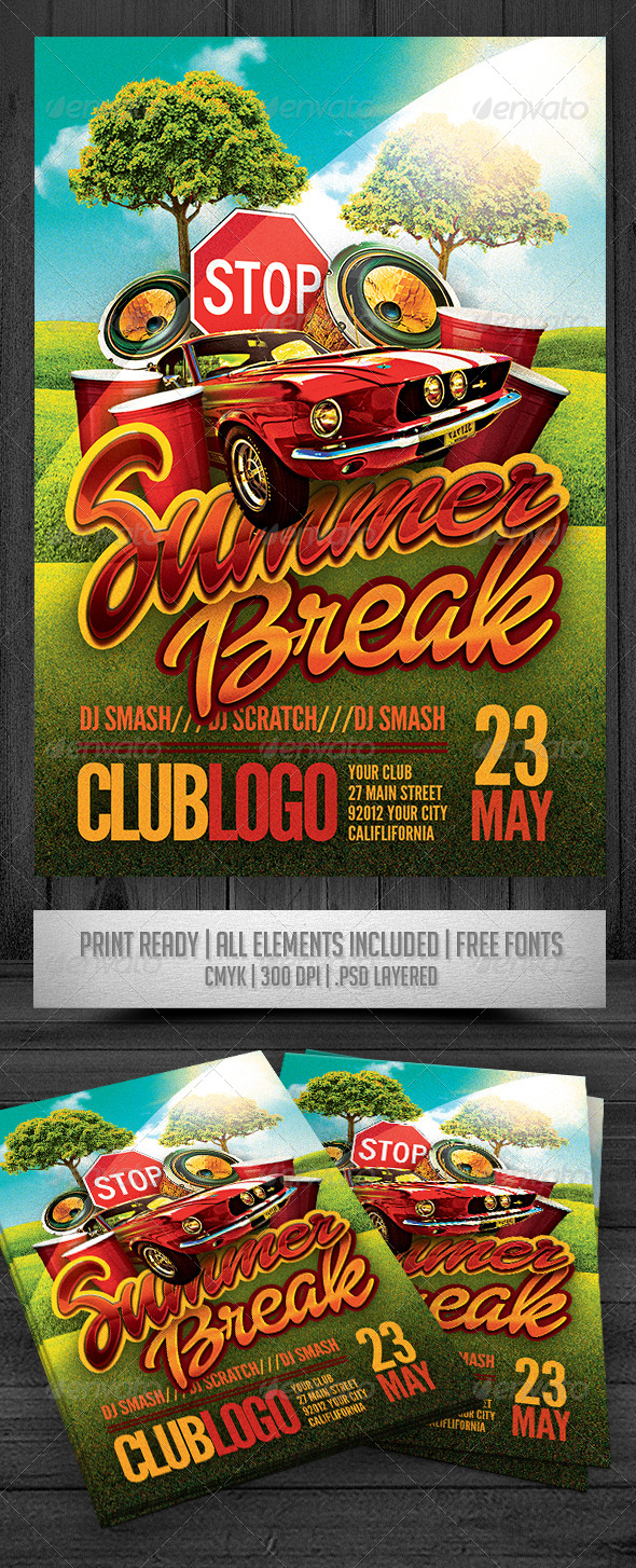 GraphicRiver Summer Break Flyer 7669500