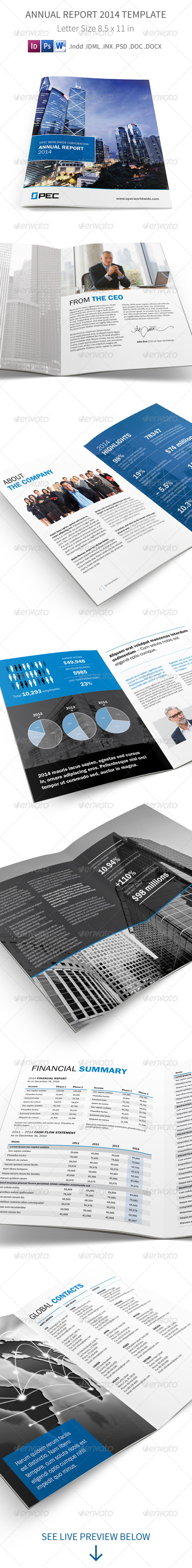 GraphicRiver Annual Report 2014 Template 7670317
