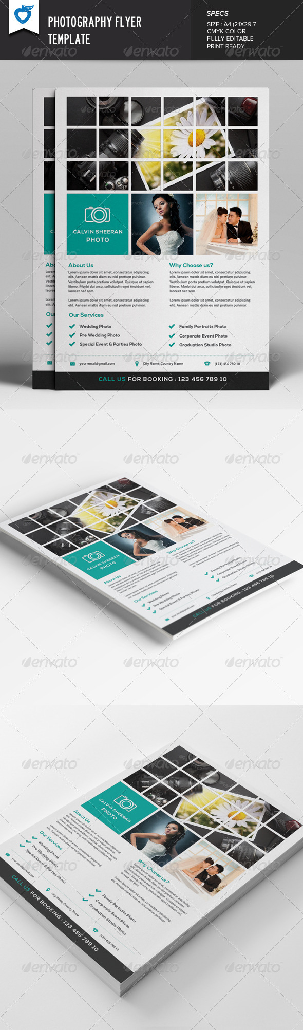 GraphicRiver Photography Flyer Template 7670531