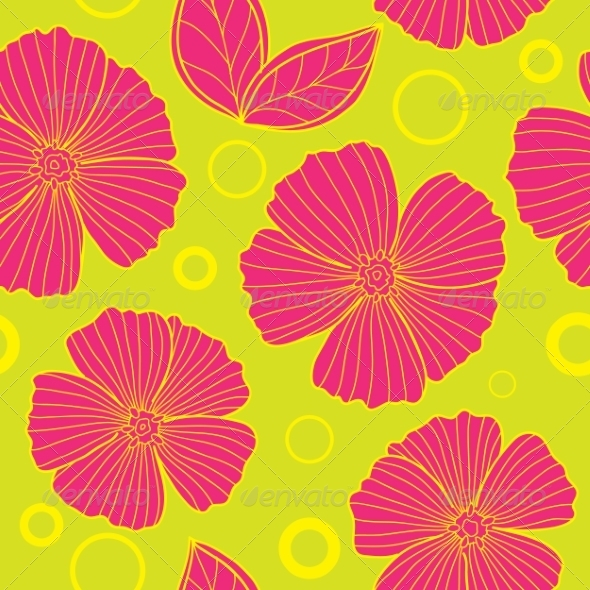 GraphicRiver Floral Seamless Summer Pattern 7670742