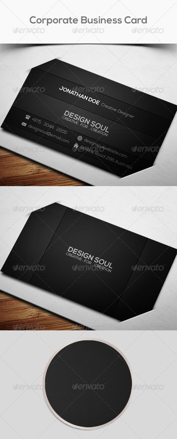 GraphicRiver Dark Corporate Business Card 7671262