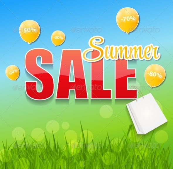GraphicRiver Summer Sale Concept 7671551
