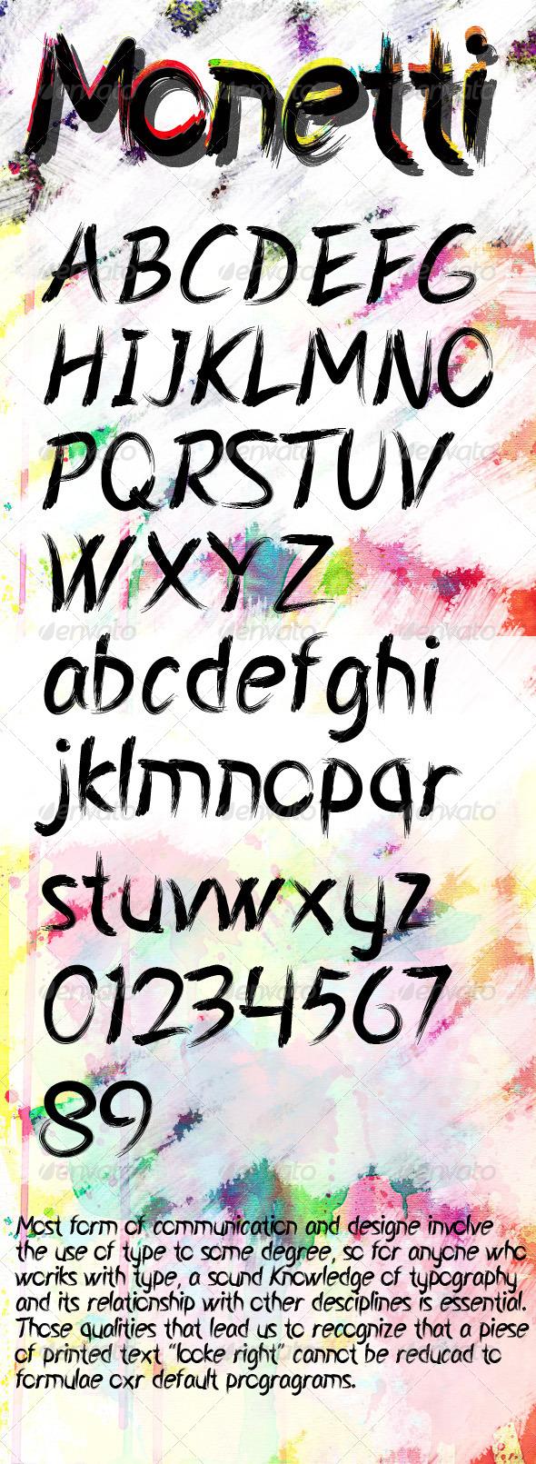 GraphicRiver Monetti Font 7671670