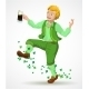 Joyful Jumping Leprechaun - GraphicRiver Item for Sale