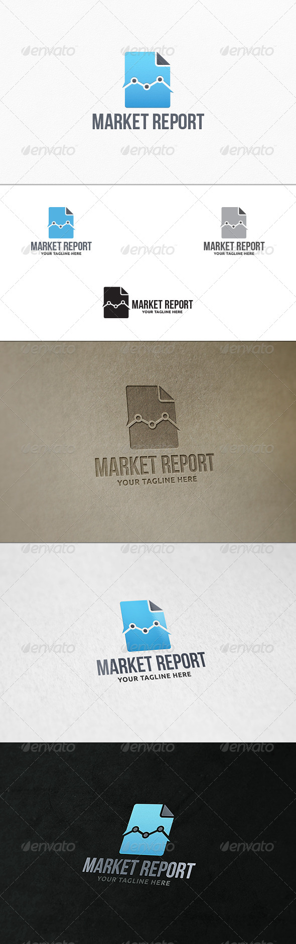 GraphicRiver Market Report Logo Template 7672222