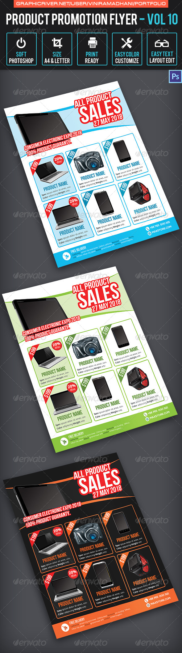 GraphicRiver Product Promotion Flyer Volume 10 7658076
