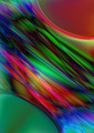 Bright Streams Between Red and Green Bubbles - PhotoDune Item for Sale