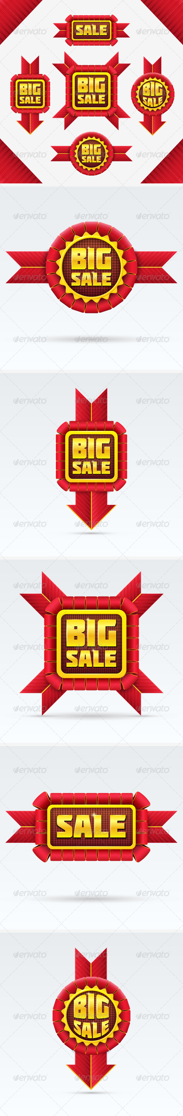 GraphicRiver Red Sale Badges Set 7672361