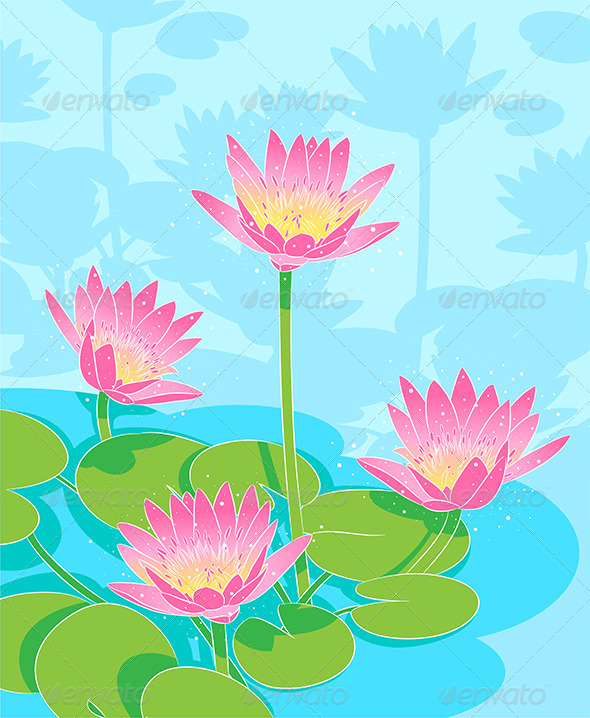GraphicRiver Waterlilys 7672810