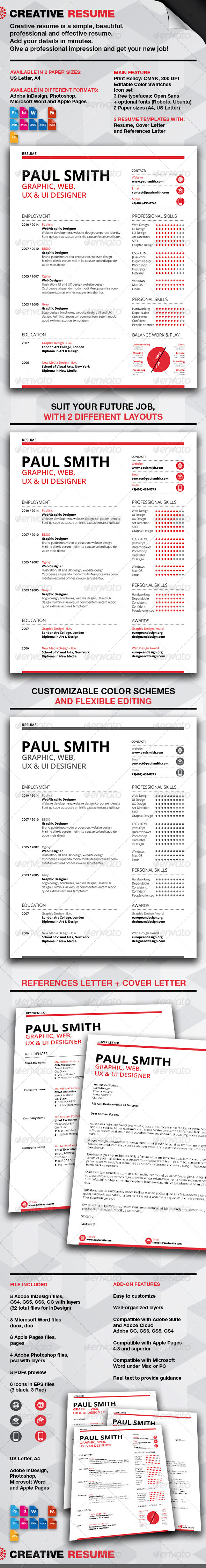 GraphicRiver Creative Resume 7639364
