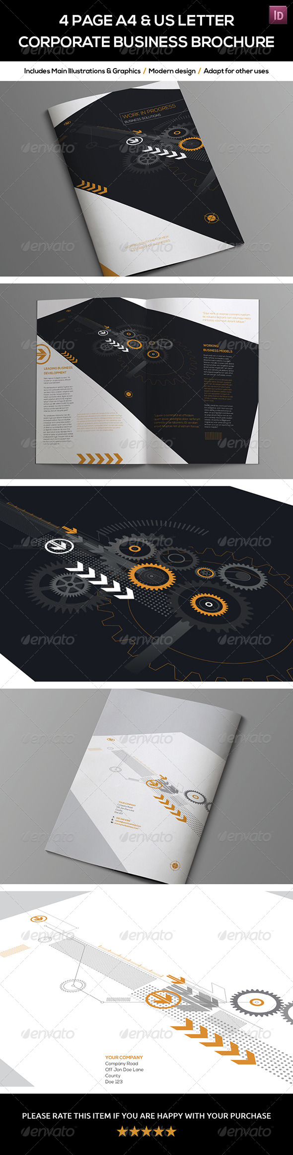 GraphicRiver 4 Page A4 and US Letter Company Brochure 7673182