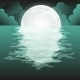 Full Moon Reflected in the Sea - GraphicRiver Item for Sale