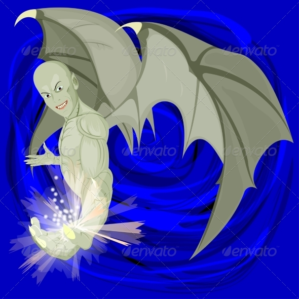 GraphicRiver Evil Winged Demon 7673333